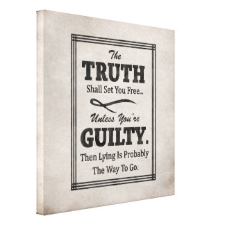 The Truth Shall Set You Free Canvas Print