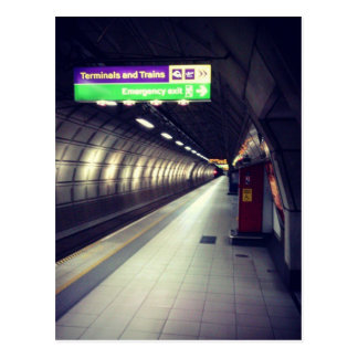 The tube postcard