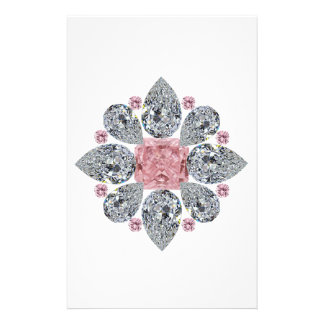 The Tudor Rose Pink Diamond Personalised Stationery