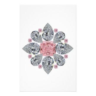The Tudor Rose Pink Diamond Stationery Paper