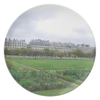 The Tuileries Garden Paris France Party Plates