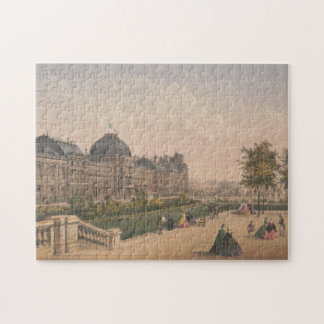 The Tuileries Palace, Paris, France Lithograph Jigsaw Puzzle