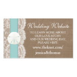 The Turquoise Sand Dollar Beach Wedding Collection Pack Of Standard Business Cards