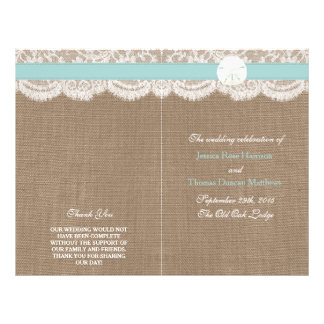 The Turquoise Sand Dollar Wedding Collection 21.5 Cm X 28 Cm Flyer