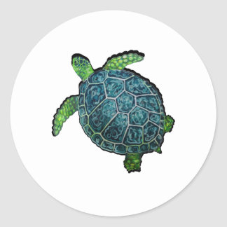 THE TURTLE VIEW CLASSIC ROUND STICKER