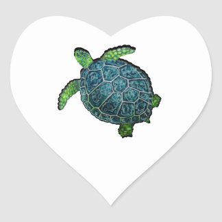 THE TURTLE VIEW HEART STICKER