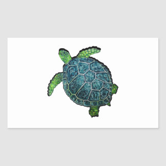 THE TURTLE VIEW RECTANGULAR STICKER