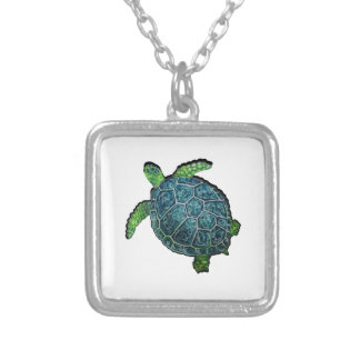 THE TURTLE VIEW SILVER PLATED NECKLACE
