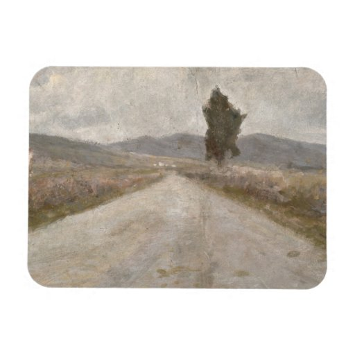 The Tuscan Road, c.1899 (board) Rectangle Magnet