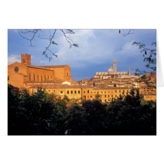 The Tuscan village of Sienna, Italy. Card