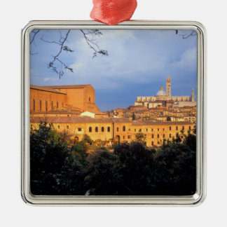 The Tuscan village of Sienna, Italy. Metal Ornament
