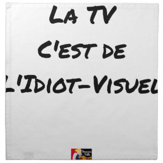 The TV, It IS IDIOT-VISUEL - Word games Napkin