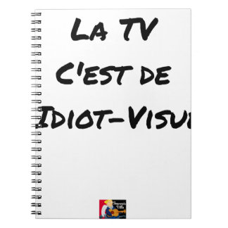 The TV, It IS IDIOT-VISUEL - Word games Notebook
