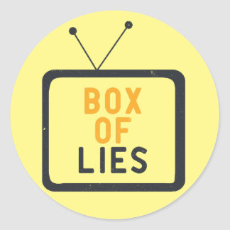 The Tv set is just a Box of lies Classic Round Sticker