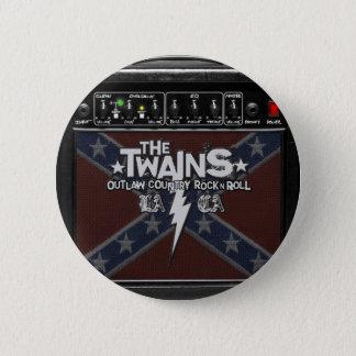 The TWAINS Dixie Amp Button! 6 Cm Round Badge