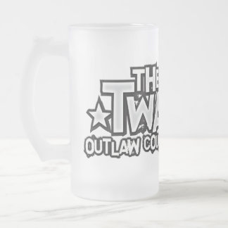 The Twains Logo Frosted Mug! Frosted Glass Beer Mug