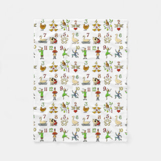 The Twelve Days of Christmas Fleece Blanket