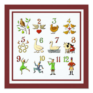 The Twelve Days of Christmas Your Border Color Card