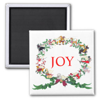 The Twelve Dogs of Christmas Magnet