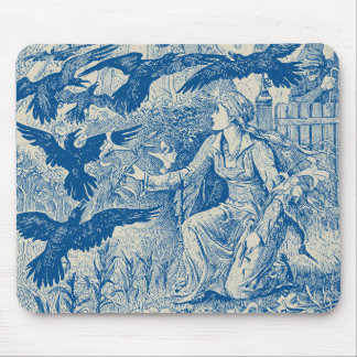 The Twelve Ravens Mousepad - Blue