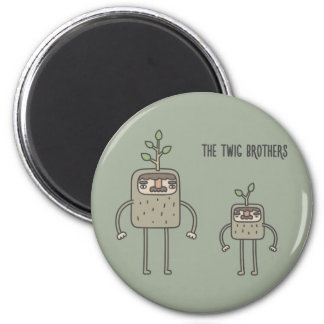 The Twig Brothers 6 Cm Round Magnet