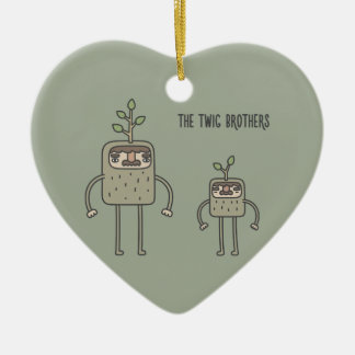 The Twig Brothers Ceramic Heart Decoration