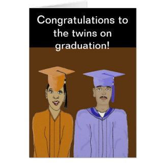 The twins graduation Card