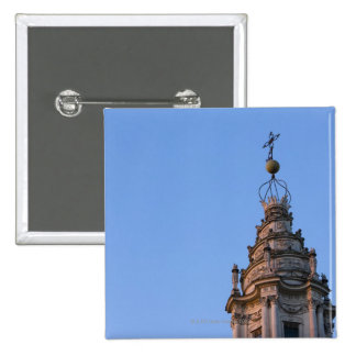The twisted spiral tower of the Sant'Ivo alla 15 Cm Square Badge
