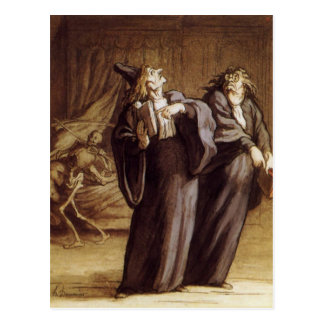 The Two Doctors and Death by Honore Daumier Postcard
