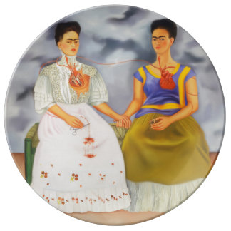 The Two Fridas Porcelain Plates