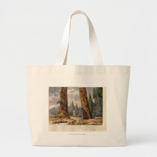 The Two Sentinels, at the Grove of Big Trees Large Tote Bag
