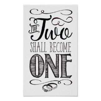 The two Shall Become One Art Poster
