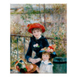 The Two Sisters, On the Terrace, Renoir Poster