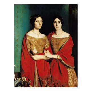 The Two Sisters, or Mesdemoiselles Chasseriau Postcard