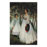 The Two Sisters: Portrait, 1863 Print