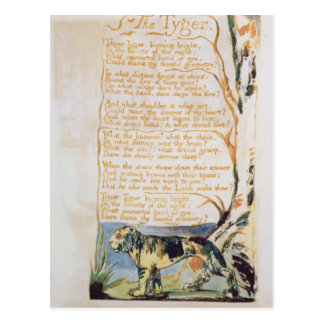 The Tyger, from Songs of Innocence Postcard