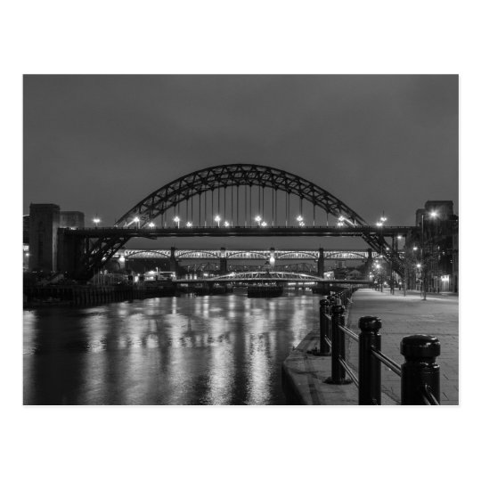 The Tyne Bridges at Night Postcard