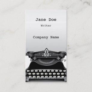 Old fashioned typewriter business cards zazzle au the typewriter business card reheart Choice Image