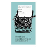 The Typewriter  Writer  Editor Publishing Pack Of Standard Business Cards