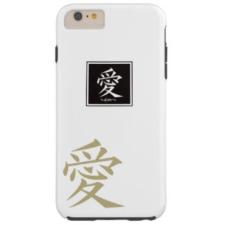 The typography of the Chinese character, love Tough iPhone 6 Plus Case