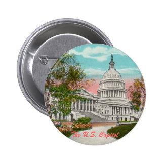 The U.S. Capitol Vintage Button