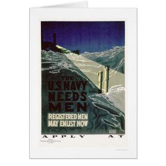The U.S. Navy Needs Men (US02300) Greeting Card