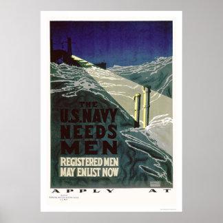 The U.S. Navy Needs Men (US02300) Poster