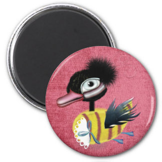 The Ugly Duckling fairytale pink grungy magnet