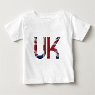 The UK Union Jack British Flag Typography Elegant Baby T-Shirt
