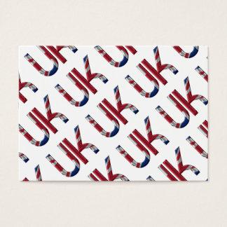 The UK Union Jack British Flag Typography Elegant Business Card
