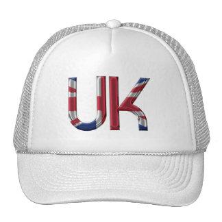 The UK Union Jack British Flag Typography Elegant Cap