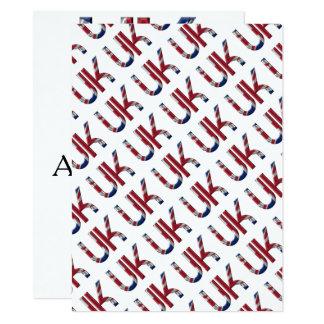 The UK Union Jack British Flag Typography Elegant Card
