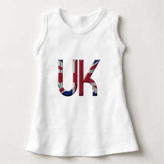 The UK Union Jack British Flag Typography Elegant Dress