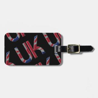 The UK Union Jack British Flag Typography Elegant Luggage Tag
